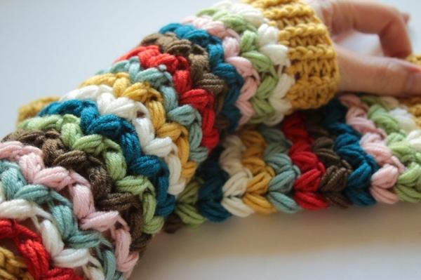 crochet fingerless mitts pattern