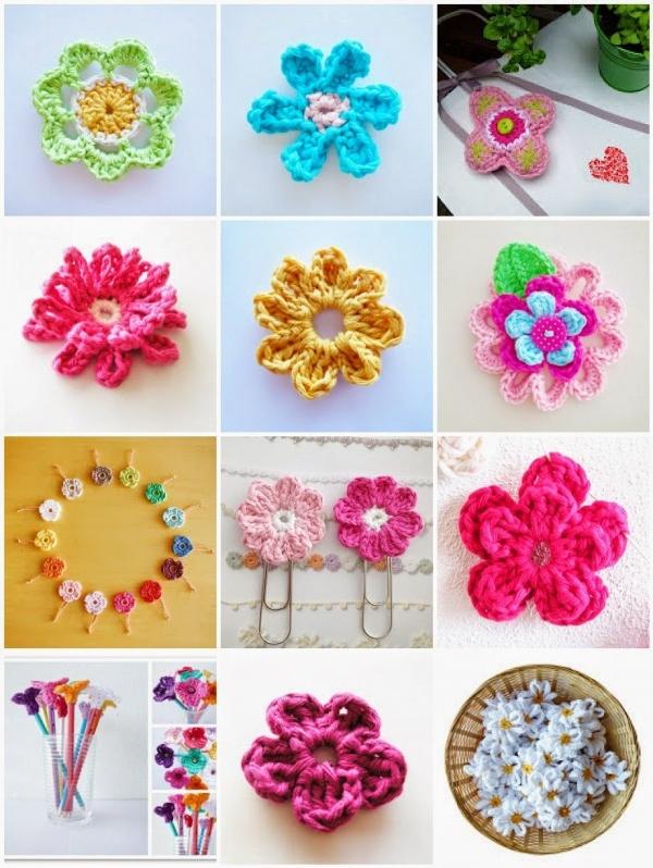 padrões de flor de crochê