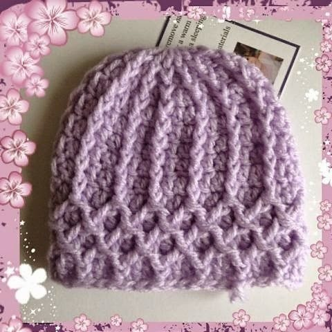 Crochet Hat Patterns Free : DIAMOND LATTICE CROCHET PATTERN Free Crochet Patterns