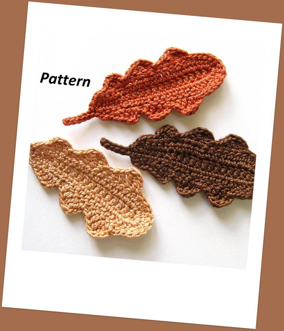 crochet oak leaves pattern