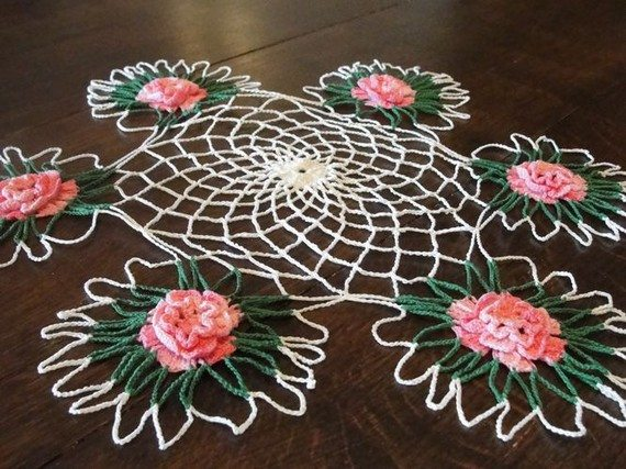 crochet rose doily