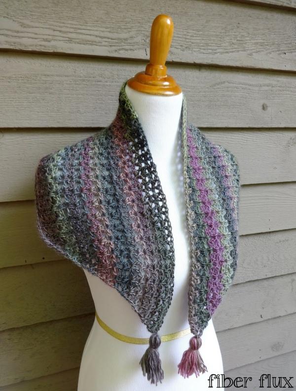 padrão de xale de crochê