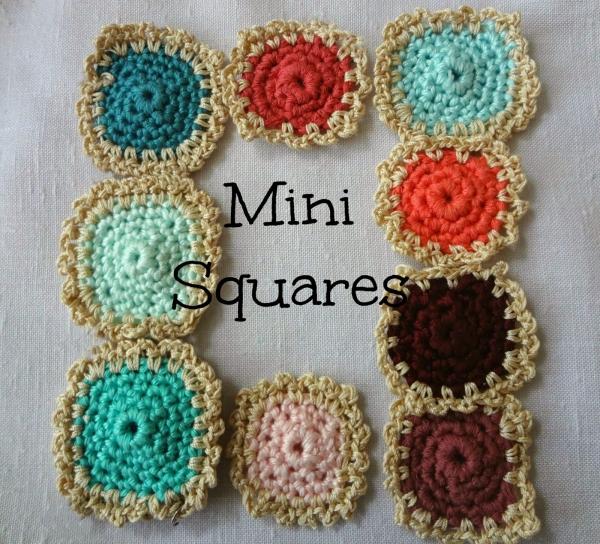 quadrados de crochê padrão