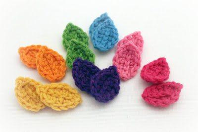 easy crochet leaves