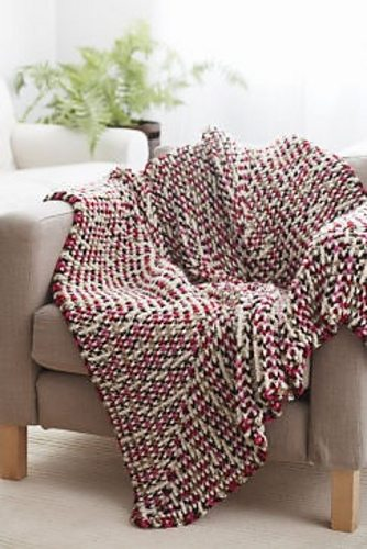 Snuggly free crochet blanket pattern from Michaels