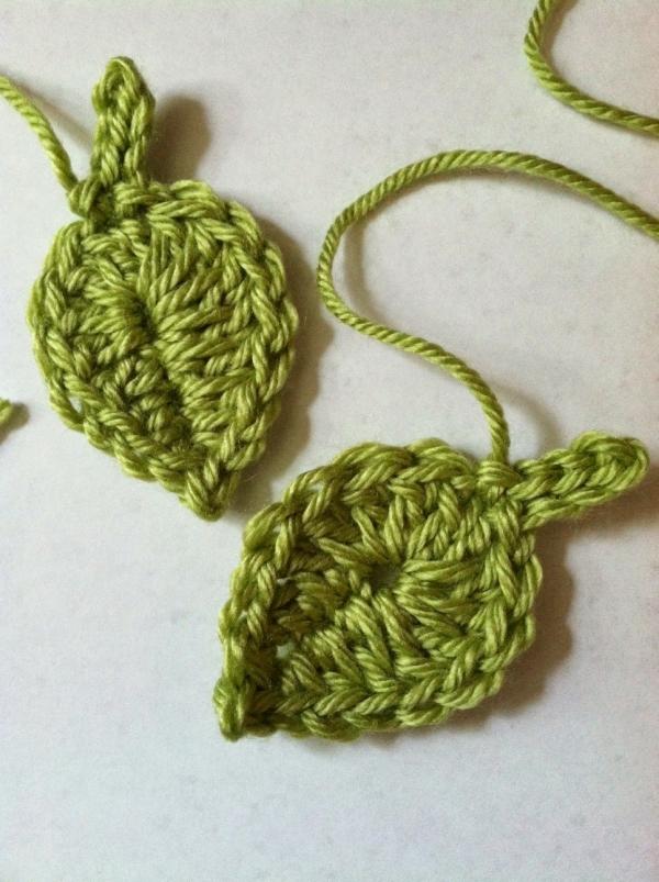 little crochet leaf pattern