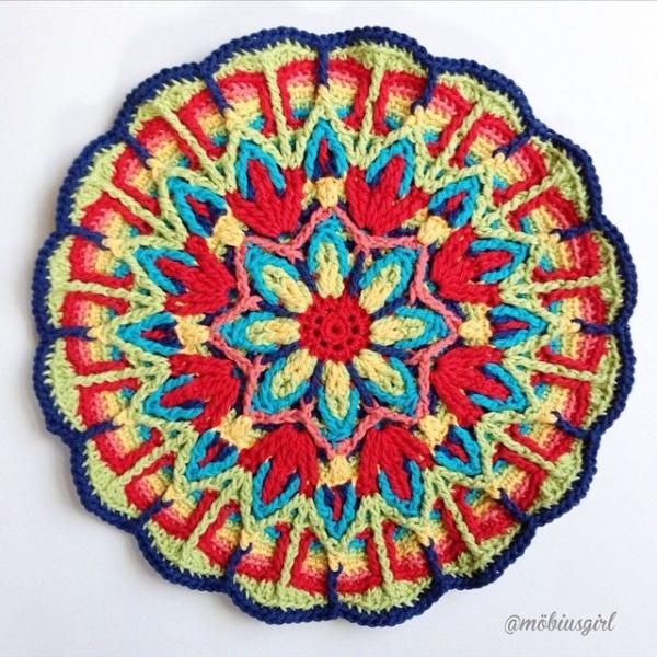 mobiusgirl instagram crochet mandala