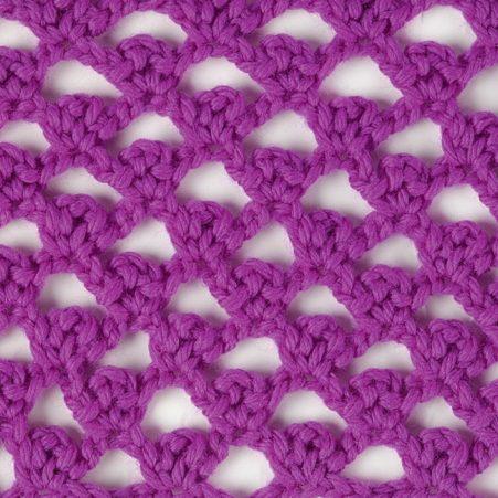 picot trellis crochet stitch