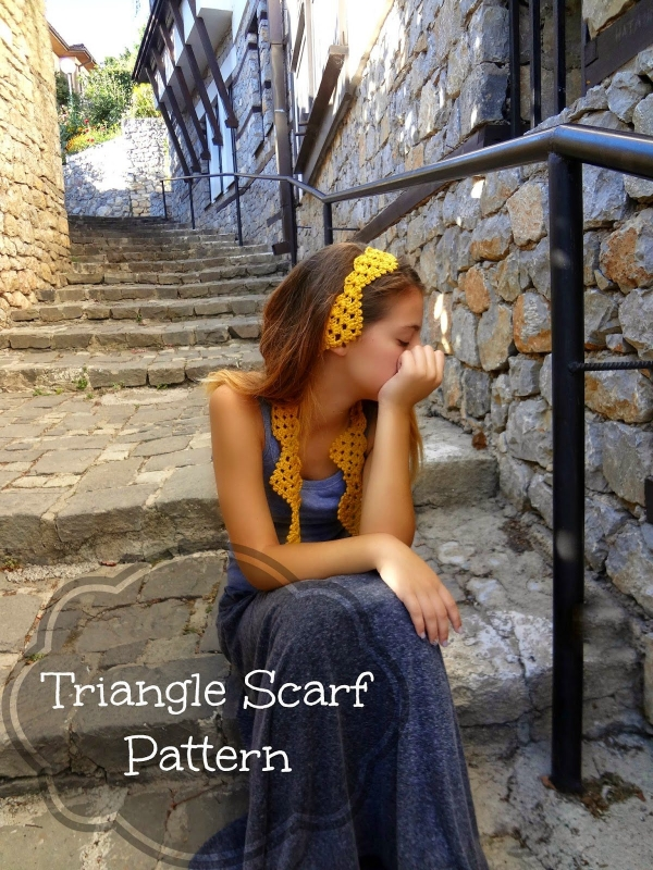 triangle scarf pattern