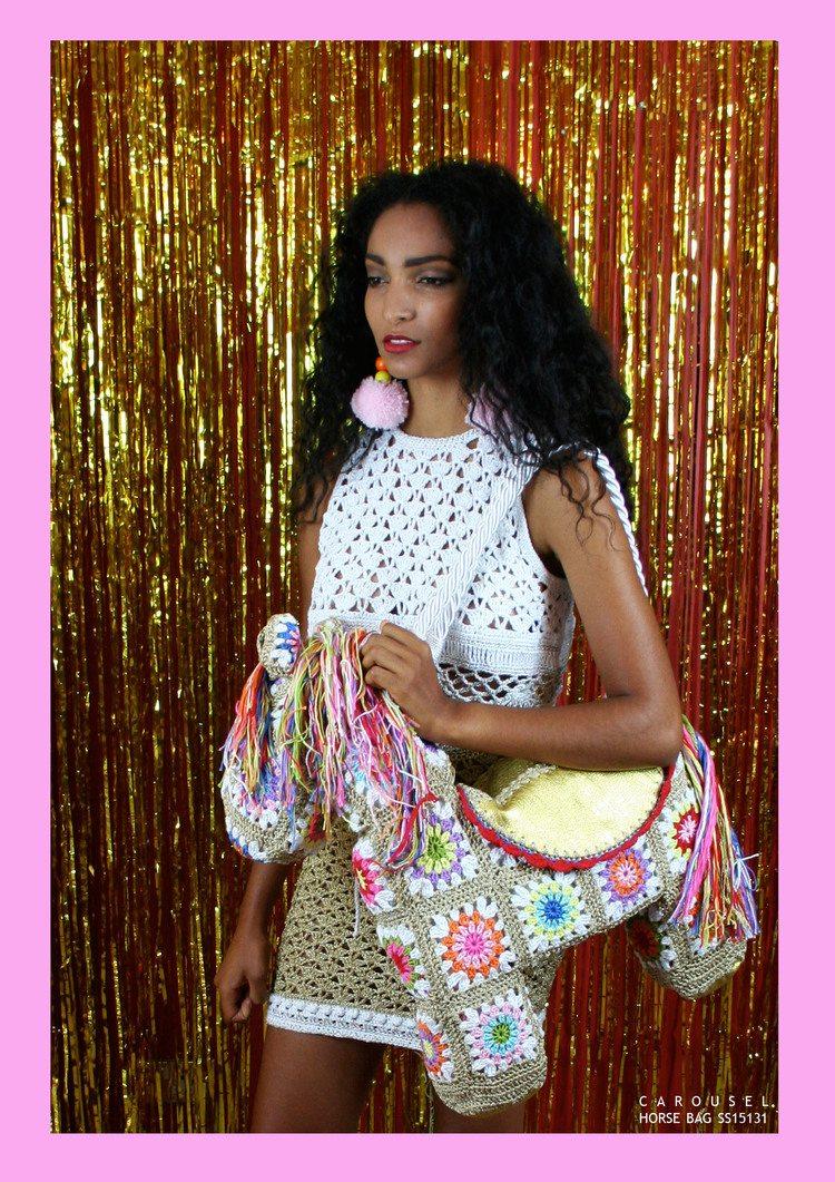 katie jones crochet granny square purse