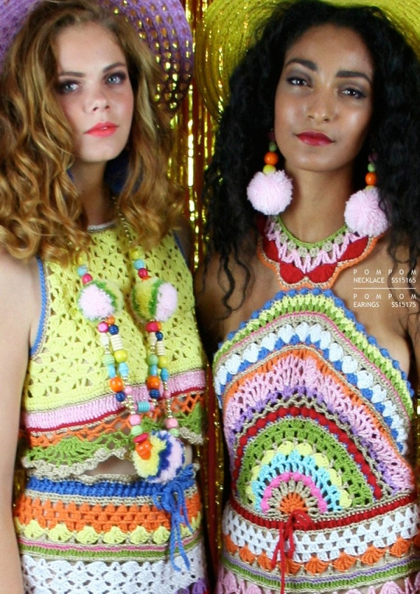 colorful crochet fashion