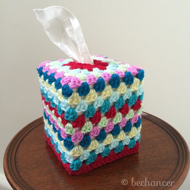 bechancer crochet granny square tissue cozy
