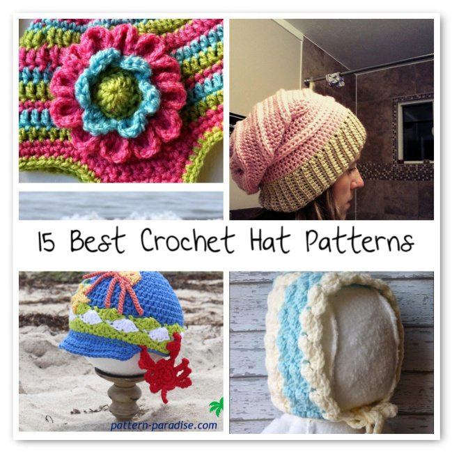Best Crochet Stitches : 15 More of the Best Crochet Hat Patterns Crochet Concupiscence ...