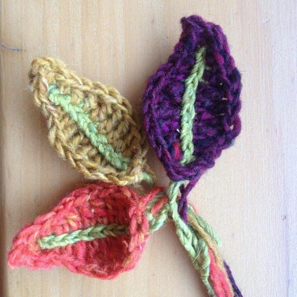 bluebirdsunshine crochet autumn leaves