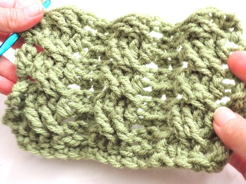 câbles crochet tutoriel