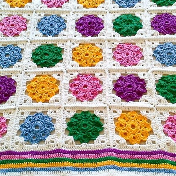 ceyhan65 granny square crochet blanket