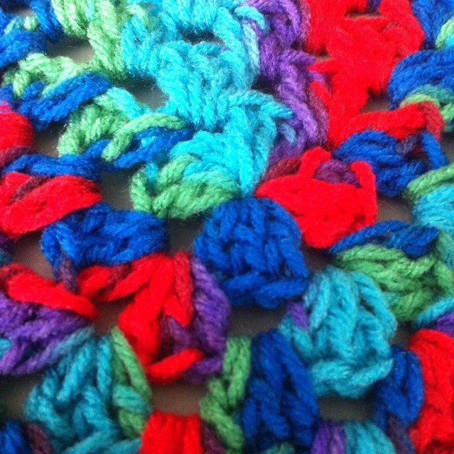 colorful crochet granny square