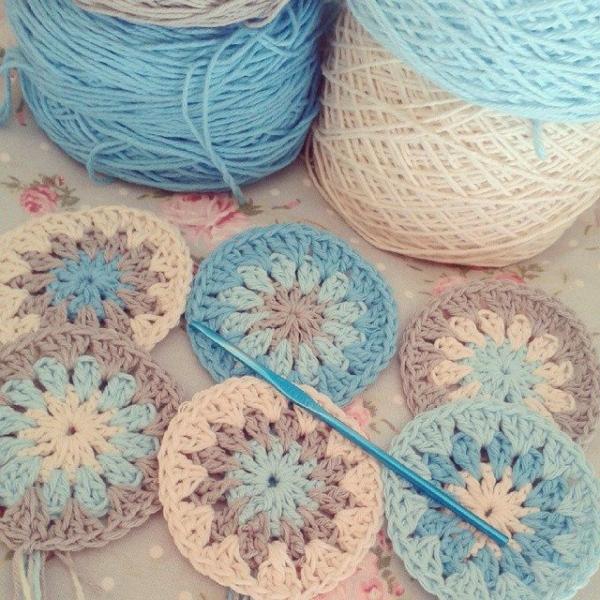 corazonalsol crochet circle