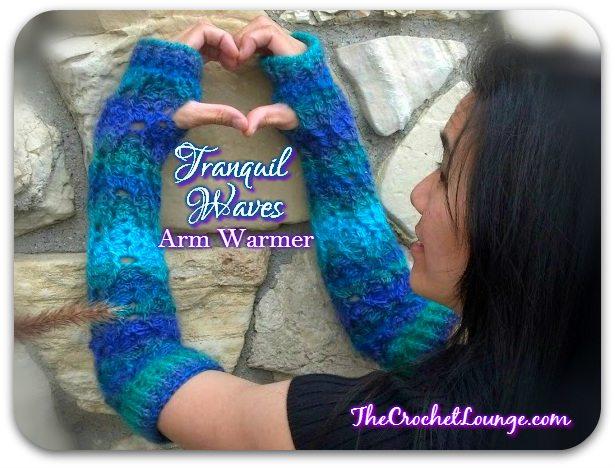 crochet armwarmer free pattern