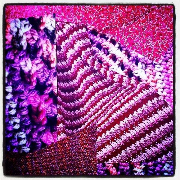 crochet art collage