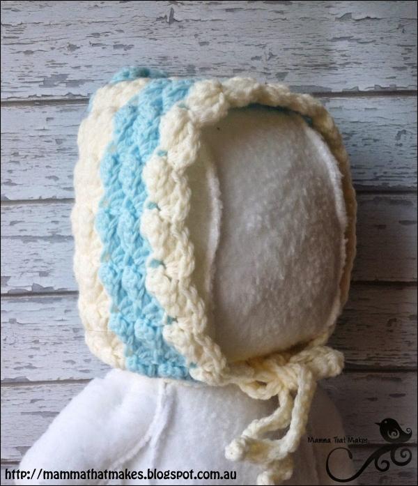 baby bonnet free crochet pattern