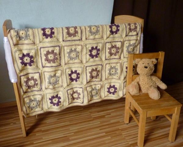 crochet blanket square pattern