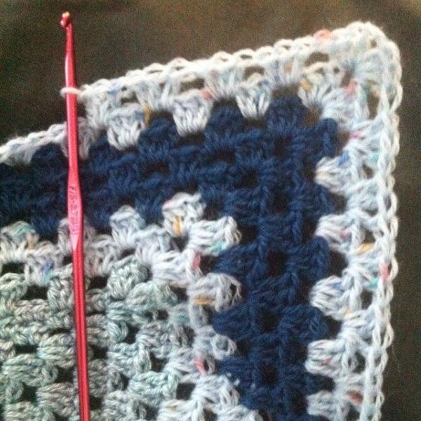 crochet blue blanket