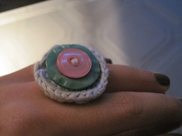 crochet button ring free pattern