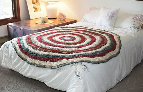 crochet circle blanket free pattern