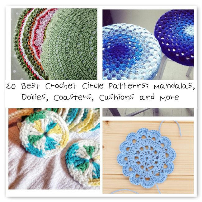 20 Best Crochet Circle Patterns: Mandalas, Doilies, Coasters, Cushions ...