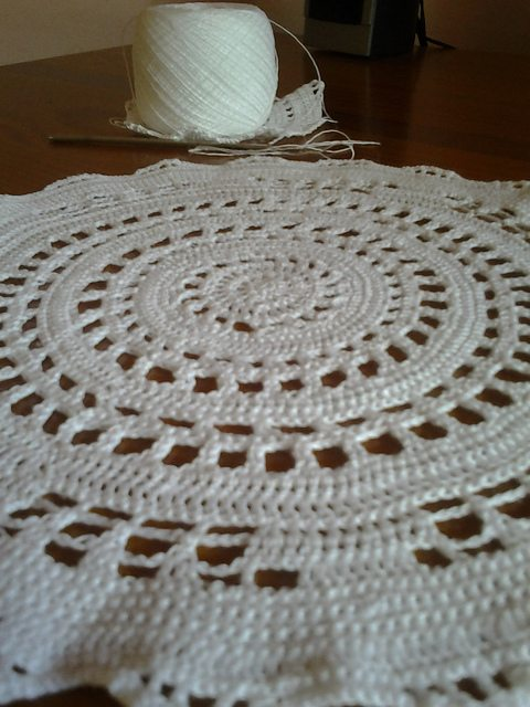 Crocheting Doilies Patterns : Crochet doily pattern with matching crochet coasters free on Ravelry