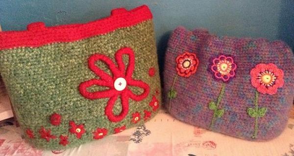 crochet felted purse pattern