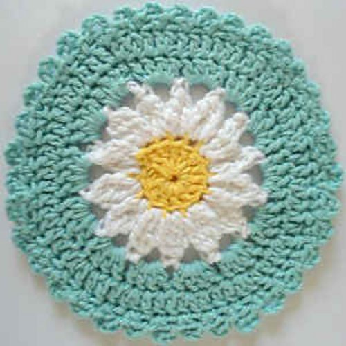 crochet flower circle pattern