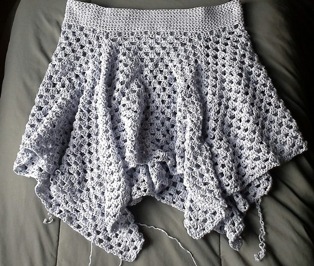 crochet granny skirt free pattern