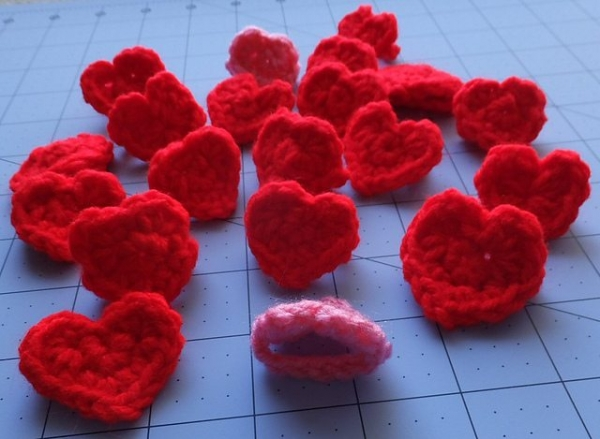 crochet heart ring free pattern