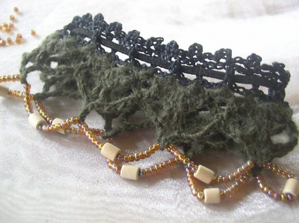 crochet lace anklet free pattern