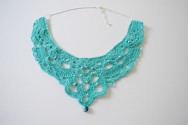 crochet necklace free pattern