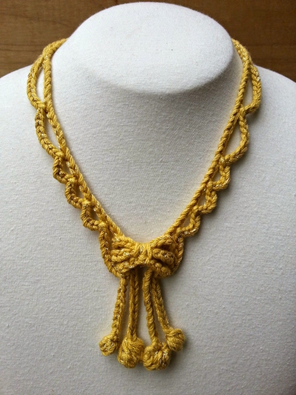 Looking Glass Crochet Necklace Free Pattern by @ stitchstory on @ ...