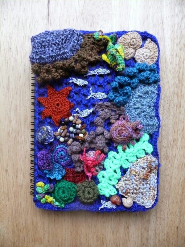 crochet notebook cover