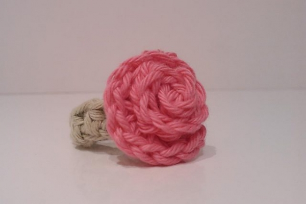 crochet rose ring free pattern