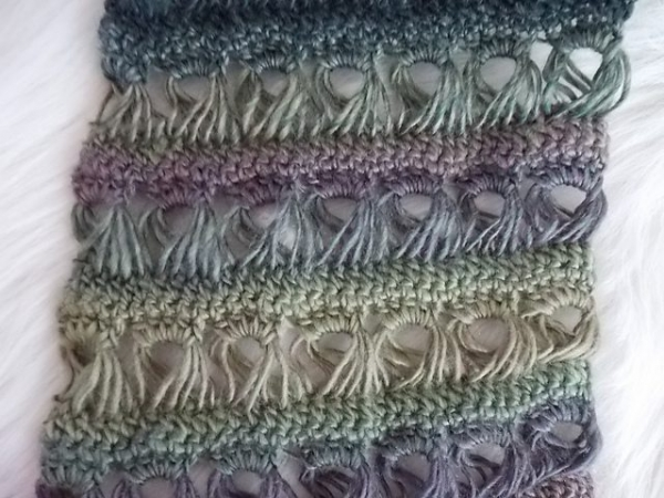 crochet scarf pattern broomstick lace