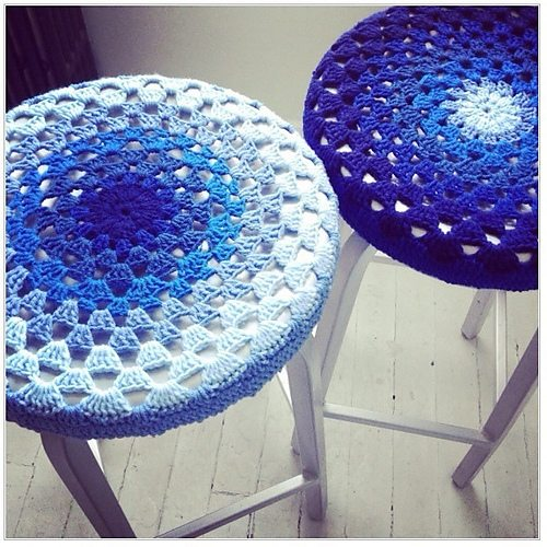 crochet stool covers free pattern
