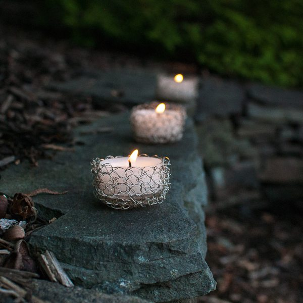 crochet tealight pattern