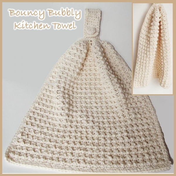 Crochet kitchen towel free pattern by Crochet n Crafts