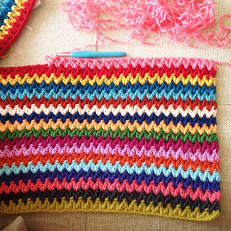 crochet v stitch ripple afghan pattern