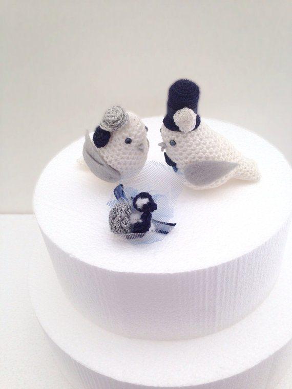 crochet wedding cake toppers