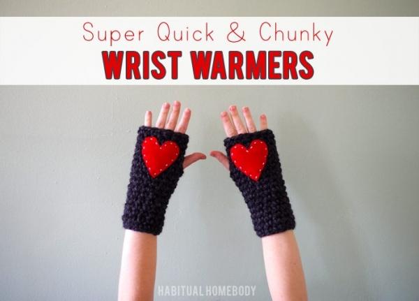 crochet wristwarmers free pattern