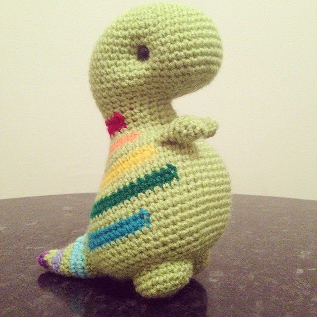 Free Crochet Pattern For Dinosaur Beanie : cuteashook crochet dinosaur