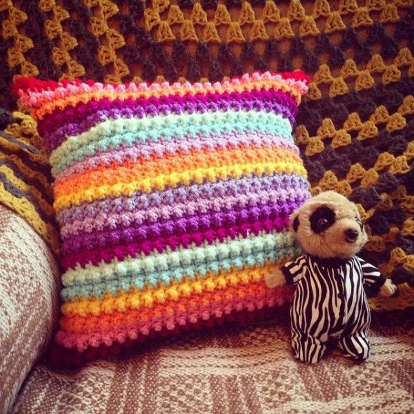 cuteashook crochet pillow