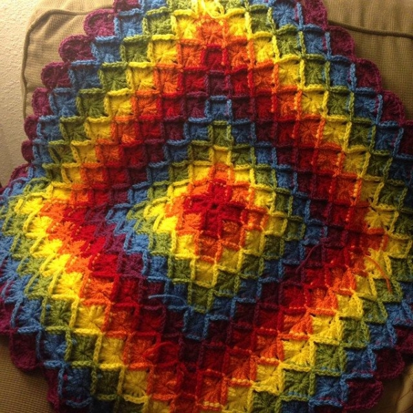 e.mireles crochet rainbow blanket